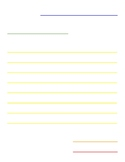 Friendly Letter color-coded writing paper template