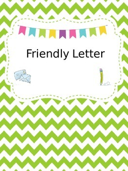 Friendly Letter for the Writing Center - Editable Document