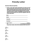Friendly Letter group activity