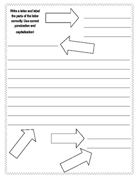 Friendly Letter template, vocabulary, worksheets by Vanessa Crown