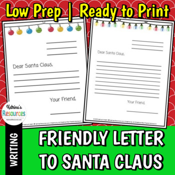 Friendly letter to santa claus template by katrinas resources friendly letter to santa claus template spiritdancerdesigns Image collections