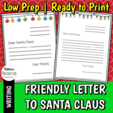 Friendly Letter to Santa Claus Template
