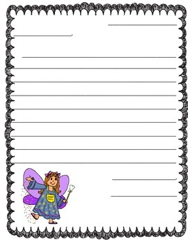 Friendly Letter to the Tooth Fairy Template