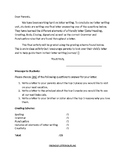 Friendly Letter writing Outline