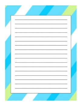 Friendly Letters - Cumulative Activity - Student Choice of Prompts
