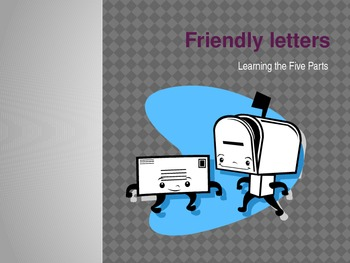 Friendly Letters Minilesson