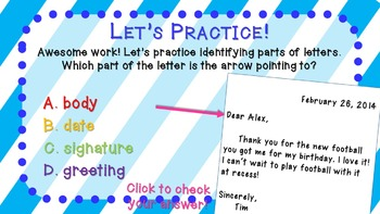 Friendly Letters and Commas in Letters Mini Lesson