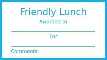 Friendly Lunch Blue