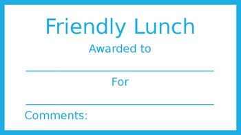 Friendly Lunch Blue