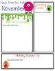 Editable Newsletter Templates (12 included): Friendly Monster Theme