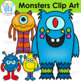 Friendly Monsters Clip Art