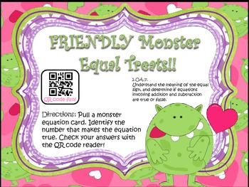 Friendly Monsters Equal Treat!! (Balancing Equations)