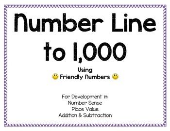 Friendly Number Line to 1000