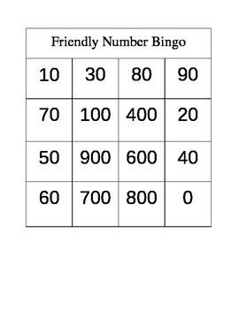 Friendly Number/Rounding Bingo