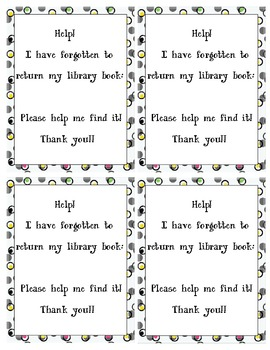 Library Overdue Books Letter Template