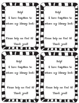 Friendly Overdue Book Notice - Library Media Center