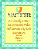 Friendly Letter to Someone Who Influenced You End of Year