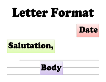 Friendly Letter & Persuasive Letter Writing Materials, Posters, Templates