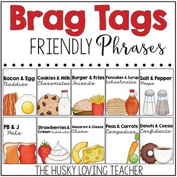 Friendly Phrases Brag Tags