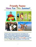 Social Inclusion: Friendly Poems & ESL Pronunciation, Have Fun This Summer!