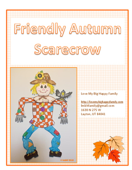 Friendly Scarecrow Cutout Craft