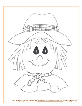Friendly Scarecrow Cutout Craft