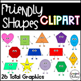Friendly Shapes {2D Shape Clipart for Commercial Use}