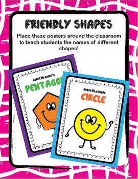 Friendly Shapes Posters