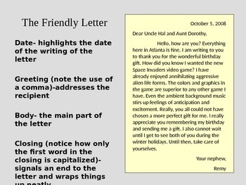 Friendly and Business Letters (Lesson and Activity)