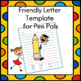 Friendly Letter Template for Pen Pals