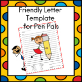 Friendly Letter Template for Pen Pals