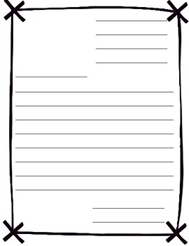 Friendly Letter Paper Template By Third Grade Wishes And Common Core