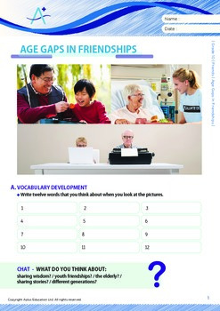 Friends - Age Gaps In Friendships - Grade 10