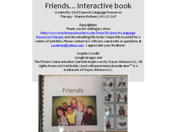 Friends - An Interactive Book