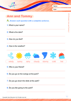 Friends - Ann and Tommy - Grade 1