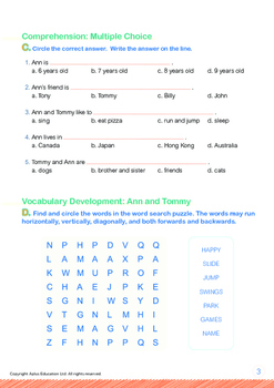 Friends - Ann and Tommy - Grade 1 (with 'Triple-Track Writing Lines')