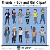 Friends Boy and Girl Clipart