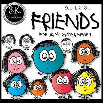 Friends Clip Art, Doodle Friends, Smita Keisser Clip Art