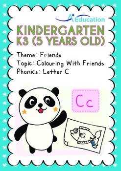 Friends - Colouring with Friends: Letter Cc - Kindergarten, K3 (5 years old)