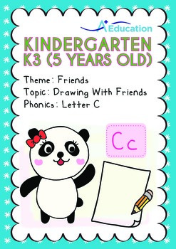 Friends - Drawing with Friends: Letter Cc - Kindergarten, K3 (5 years old)