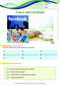 Friends - E-Pals and Facebook - Grade 5