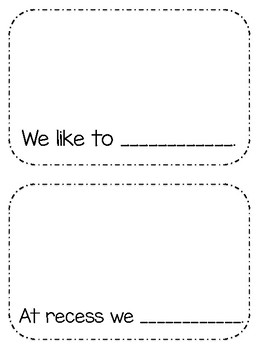 Friends Easy Reader and Fill in Blanks