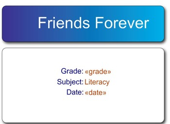 Friends Forever Comprehension