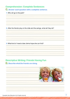 Friends - Friends Having Fun - Grade 1 (with 'Triple-Track Writing Lines')