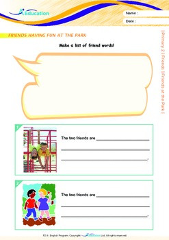 Friends - Friends at the Park (I) - Grade 2