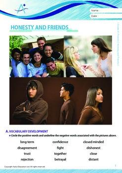 Friends - Honesty and Friends - Grade 9