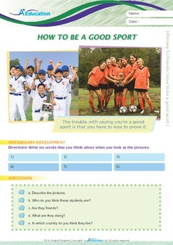 Friends - How to Be a Good Sport - Grade 5