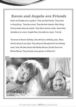 Friends - Karen and Angela Are Friends - Grade 2