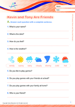 Friends - Kevin and Tony Are Friends - Grade 1