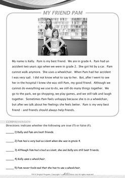 Friends - My Friend Ann Had An Accident - Grade 4